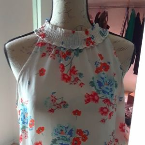 Lovely Sheer Top with poppies